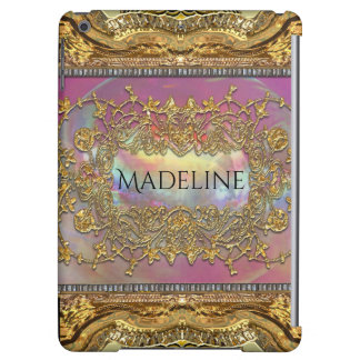 Adlamchelle Baroque Elegant Monogram Cover For iPad Air