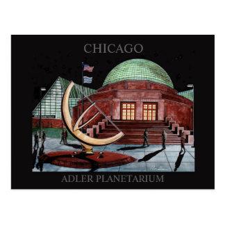 Adler Planetarium Postcard Randsom Art Chicago