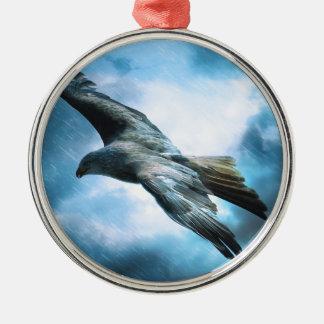 adler Silver-Colored round ornament