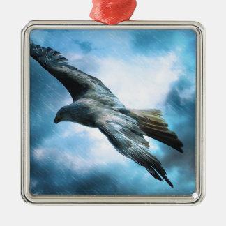 adler Silver-Colored square ornament