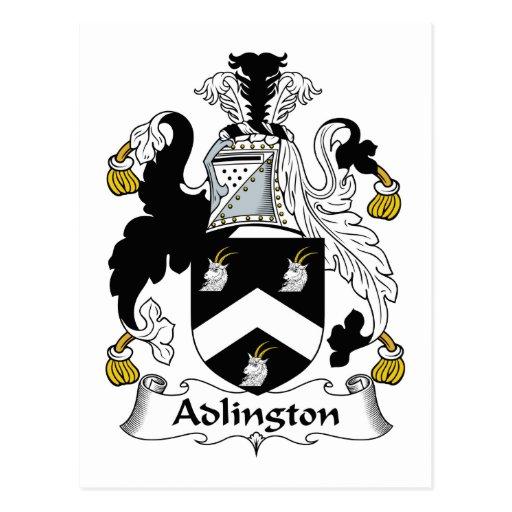 Adlington Family Crest Postcard