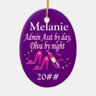 ADMIN ASST FASHION QUEEN PERSONALIZED ORNAMENT