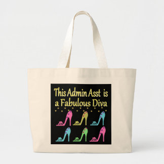 ADMIN ASST SHOE LOVER DESIGN LARGE TOTE BAG