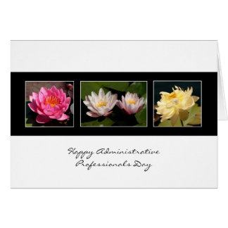 Admin Pro Day Water Lilies 3 pics blank front ,... Card