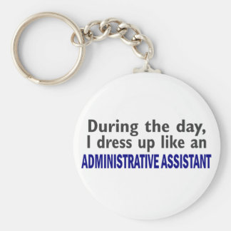 ADMINISTRATIVE ASSISTANT During The Day Basic Round Button Keychain