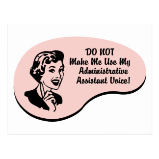 Administrative Assistant Voice Postcard