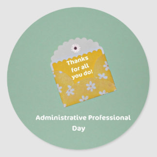 Administrative Professional Day Classic Round Sticker