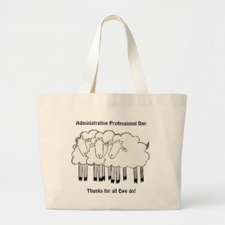 Administrative Professional Day - Thanks Large Tote Bag