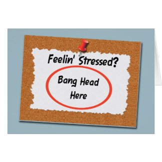 Administrative Professional Funny Bang Head Card