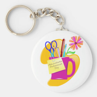 Administrative Professionals Day Design Basic Round Button Keychain