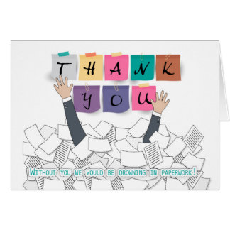 Administrative Professionals Day Thank You, Drowni Card