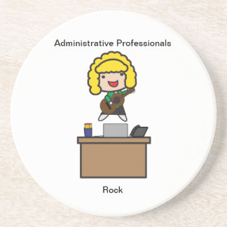 Administrative Professionals Rock (Blonde) Coaster
