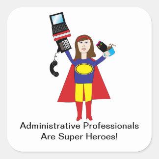 Administrative Professionals Super Hero Sticker