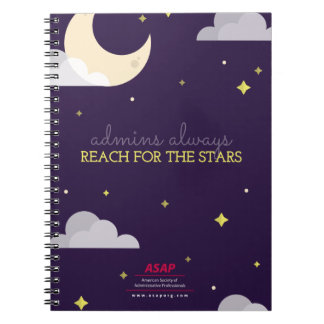 Admins Always Reach for the Stars Spiral Notebook