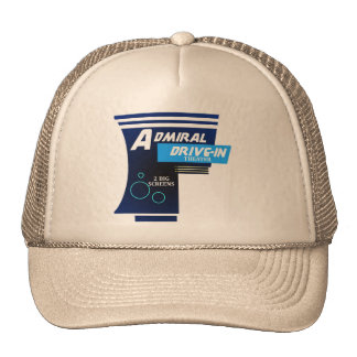 Admiral Drive-In Theater Logo Trucker Hats