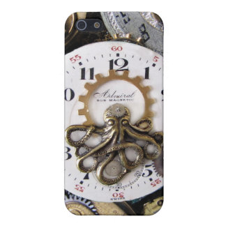 Admiral Octopus Pocket watch Steampunk iphone Case Cover For iPhone 5/5S