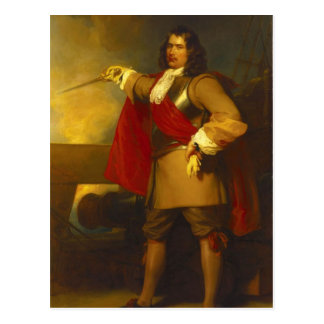 Admiral Robert Blake Postcard