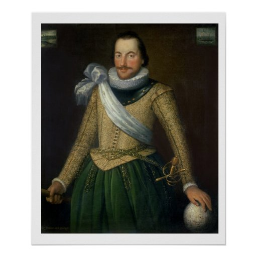 Admiral Sir Thomas Button (d.1694) Poster