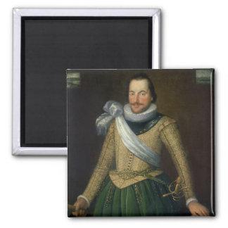 Admiral Sir Thomas Button (d.1694) Square Magnet