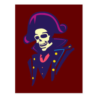 Admiral Skull head skull Postcard