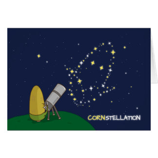Admire the Stars Constellation Cute Puny Corn Card