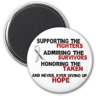 Admirer de soutien honorant le CANCER du POUMON 3 Magnet Rond 8 Cm