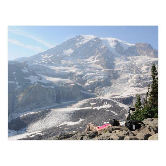 Admiring Mt. Rainier, Seattle Postcard