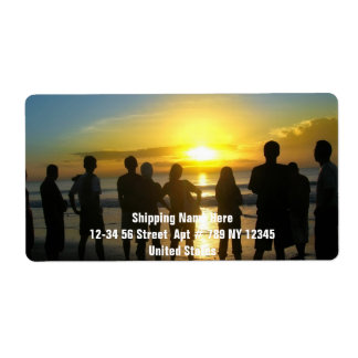 Admiring the Sunset Shipping Label