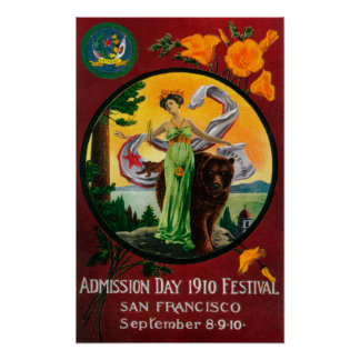 Admission Day Advertisment, State Festival Poster