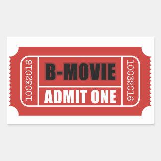Admit One - B-Movie Ticket Sticker