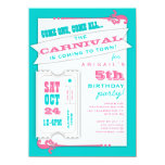 Admit One Carnival Girl Birthday Party Invitation