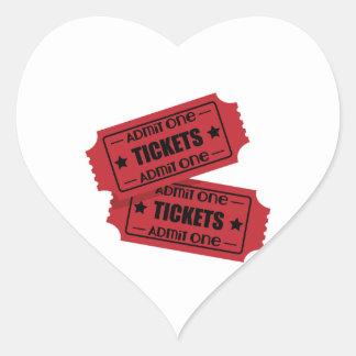 Admit One Heart Sticker