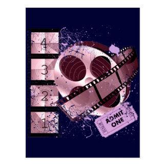 ADMIT ONE MOVIE FILM DESIGN POSTCARD