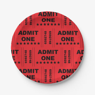 """Admit One"" Paper Plates"
