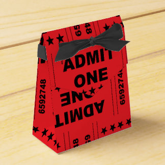 """Admit One"" Tent Favor Box"