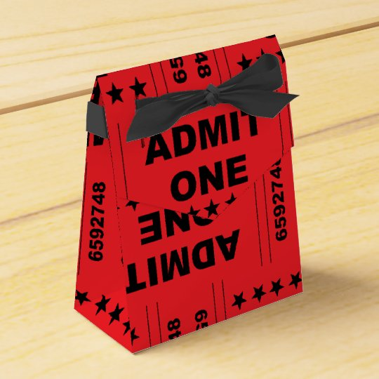 """""""Admit One"""" Tent Favour Box"""