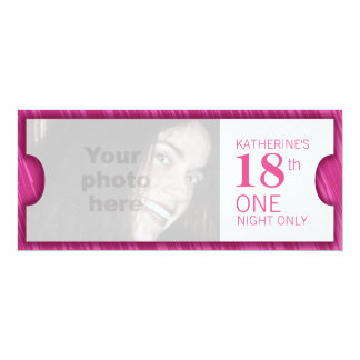 Admit one VIP 18th birthday party invite