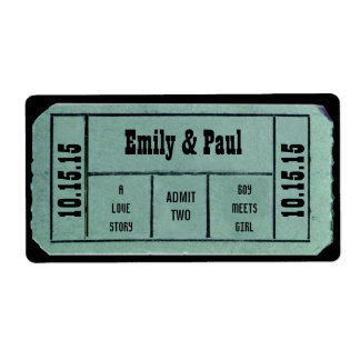 Admit TWO Save the Date TICKET