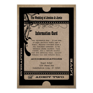 Admit Two Vintage Showbill Information Enclosure Card