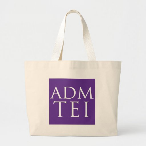 ADMTEI abbreviated logo - purple square Tote Bags
