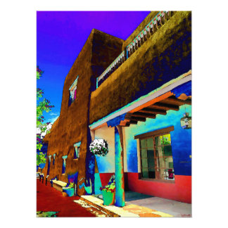 Adobe building, Santa Fe Civic Center Photo Print