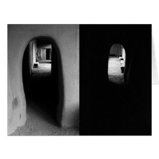 Adobe Corridor: Black and White photos Greeting Cards