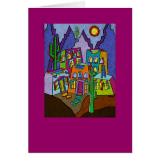 Adobe Desierto note card