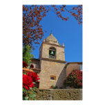 Adobe Mission church bell tower Poster