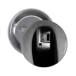 Adobe Passageway: Black & White photo 2 Inch Round Button