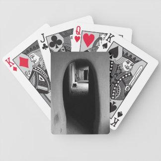 Adobe Passageway: Black & White photo Bicycle Playing Cards