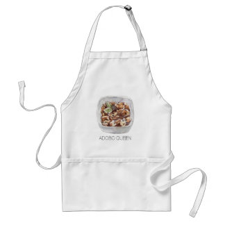 Adobo Queen Filipino Food in Watercolor Standard Apron