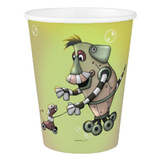 ADOGGY AND FLETCH MONSTER ALIEN CARTOON PAPER CUP