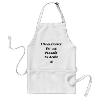 ADOLESCENCE IS A DIVING IN ACNÉE STANDARD APRON