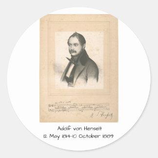 Adolf von Henselt Classic Round Sticker